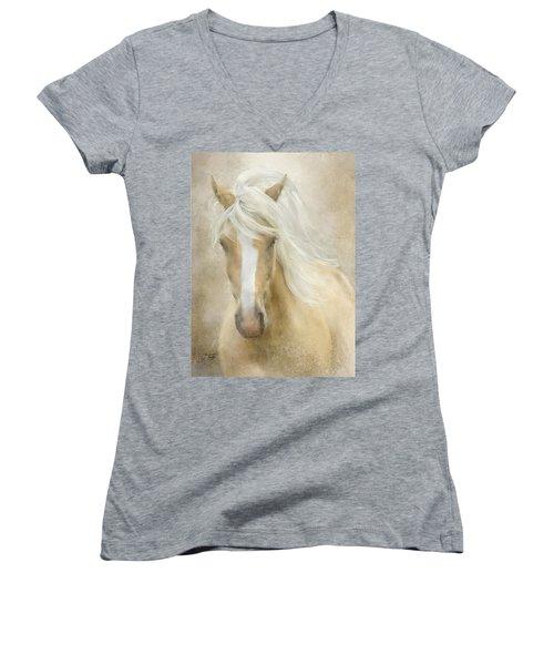 Spun Sugar Women's V-Neck T-Shirt (Junior Cut) by Colleen Taylor