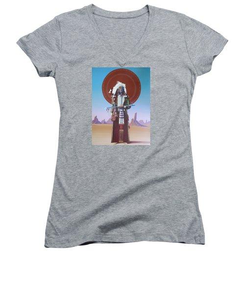 High Noon Women's V-Neck T-Shirt (Junior Cut) by Vivien Rhyan