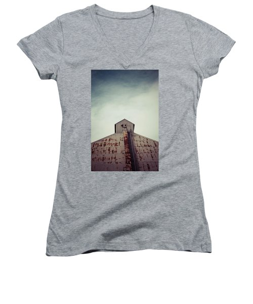 Women's V-Neck T-Shirt (Junior Cut) featuring the photograph High View by Trish Mistric