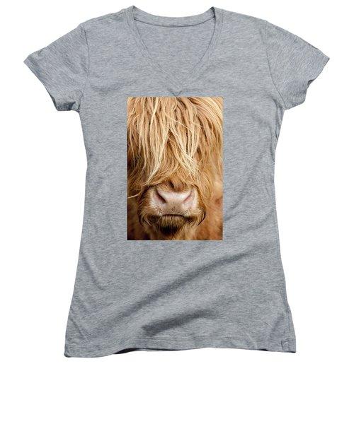 Highland Cow Women's V-Neck