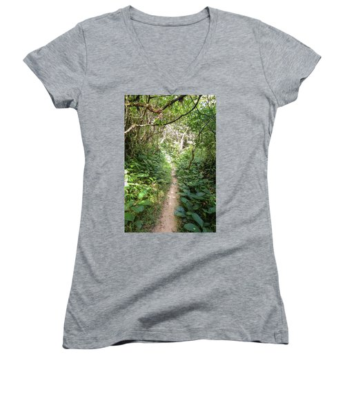 Hiking Path In The Atlantic Forest Women's V-Neck