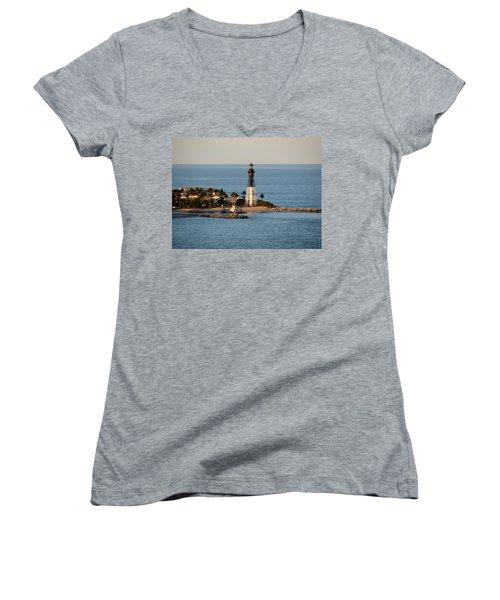 Hillsboro Lighthouse In Florida Women's V-Neck (Athletic Fit)