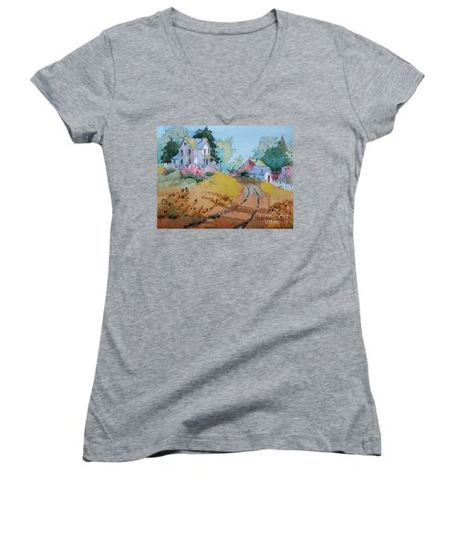 Hilltop Homestead Women's V-Neck T-Shirt