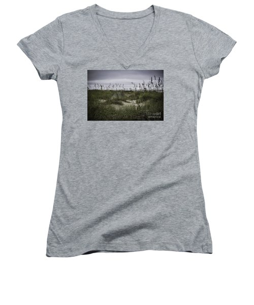 Hilton Head Women's V-Neck T-Shirt (Junior Cut) by Judy Wolinsky