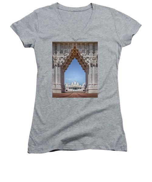 Hindu Architecture Women's V-Neck