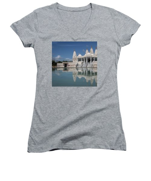 Hindu Temple Women's V-Neck
