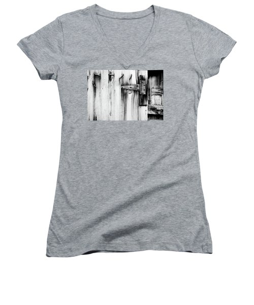 Hinged In Black And White Women's V-Neck T-Shirt
