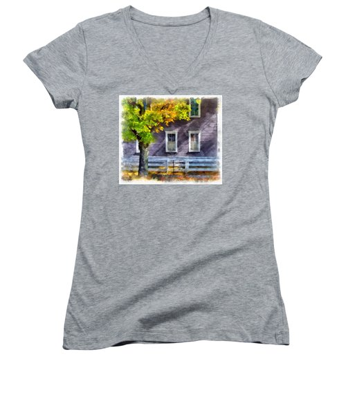 Hints Of Fall Women's V-Neck (Athletic Fit)