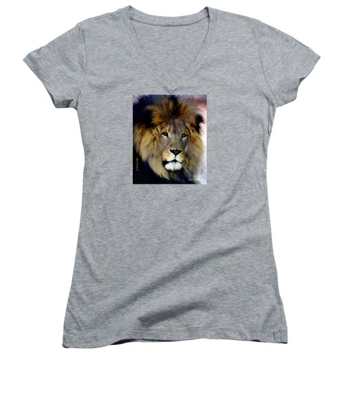 His Majesty The King Women's V-Neck (Athletic Fit)