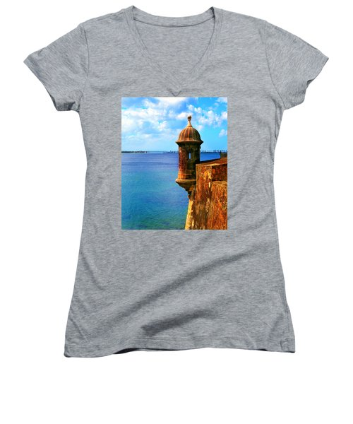 Historic San Juan Fort Women's V-Neck T-Shirt