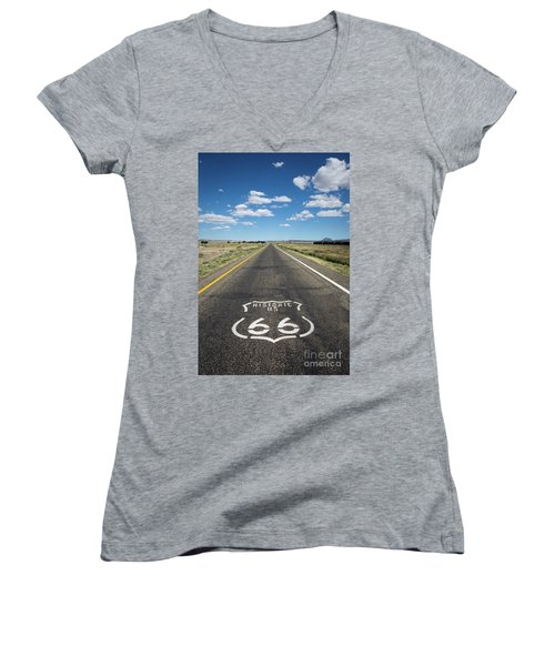 Historica Us Route 66 Arizona Women's V-Neck (Athletic Fit)