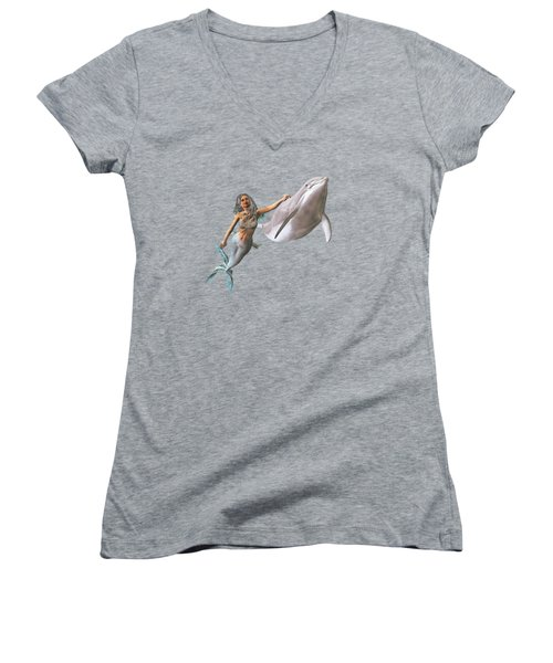 Hitching A Ride Women's V-Neck T-Shirt