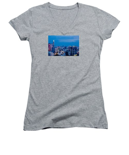 Ho Chi Minh City Night Women's V-Neck