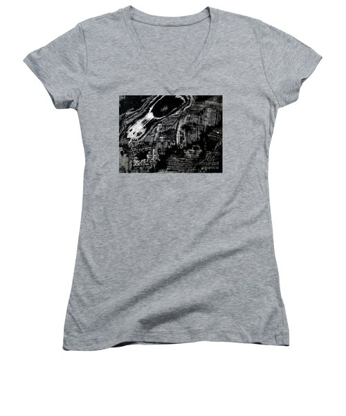 Hog Fish Two Women's V-Neck T-Shirt (Junior Cut) by Expressionistart studio Priscilla Batzell