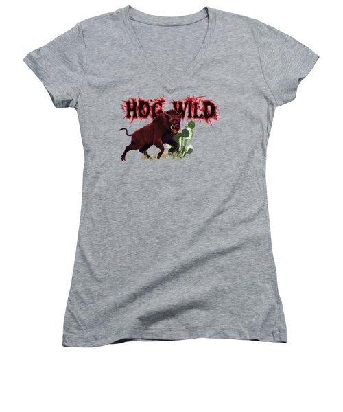 Hog Wild Tee Women's V-Neck