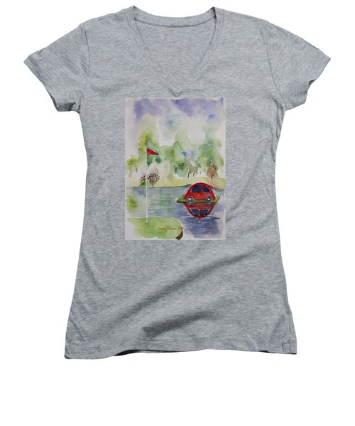 Hole In One Prize Women's V-Neck (Athletic Fit)