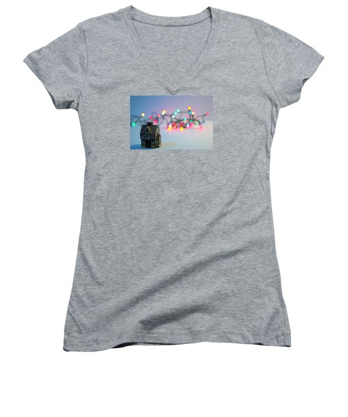 Holiday Lights Women's V-Neck T-Shirt