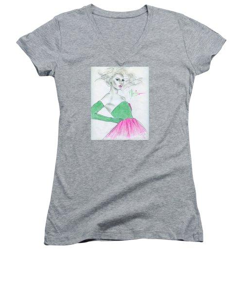 Holiday Parties Women's V-Neck T-Shirt (Junior Cut)