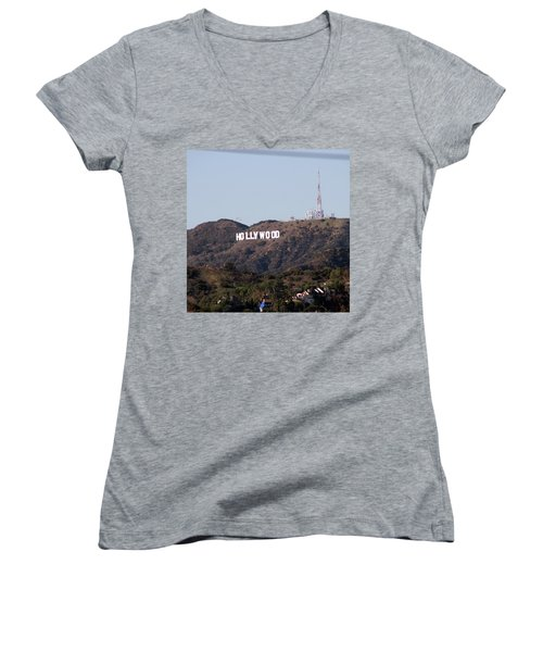 Hollywood And Helicopters Women's V-Neck