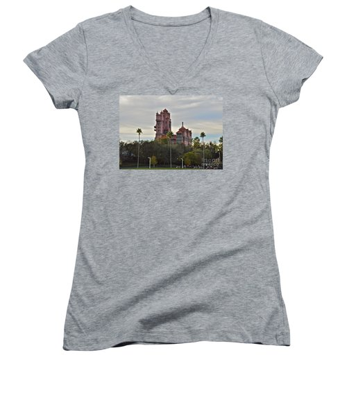 Hollywood Studios Tower Of Terror Women's V-Neck T-Shirt
