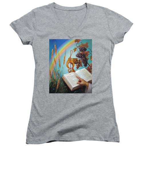 Holy Bible - The Gospel According To John Women's V-Neck (Athletic Fit)