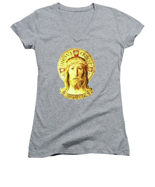 Holy Face Women's V-Neck T-Shirt