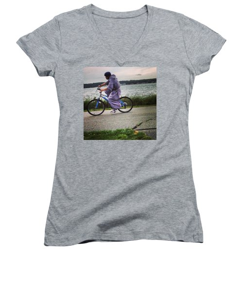 Holy Man Going For A Spin  Women's V-Neck