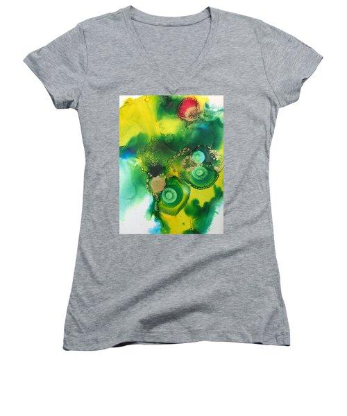 Holy Moments  Women's V-Neck T-Shirt (Junior Cut) by Tara Moorman