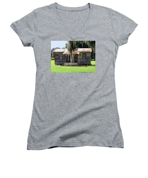 Home And Alone Women's V-Neck