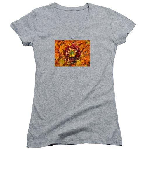 Home Grown Marigold Women's V-Neck