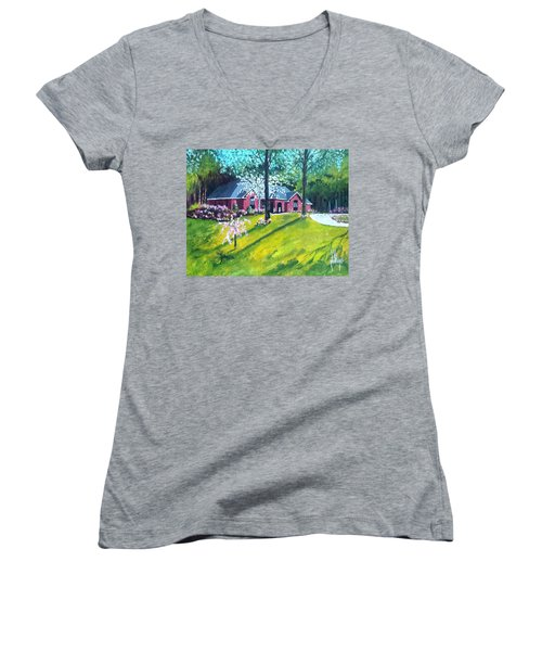 Home In Batesville, Ms Women's V-Neck T-Shirt
