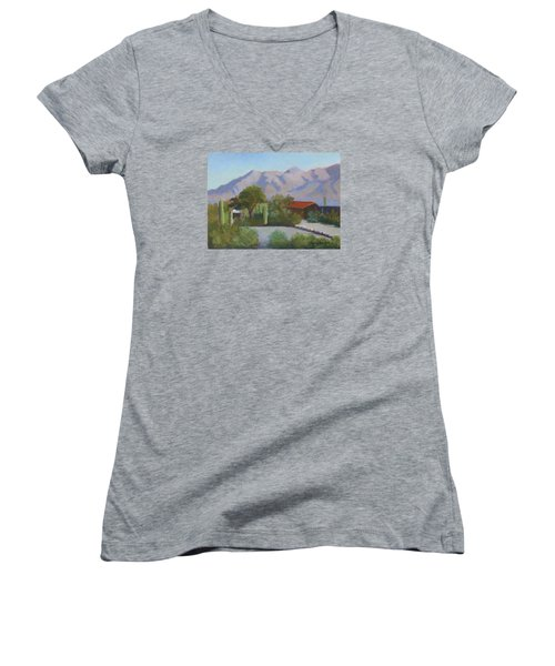Home In The Catalinas Women's V-Neck T-Shirt