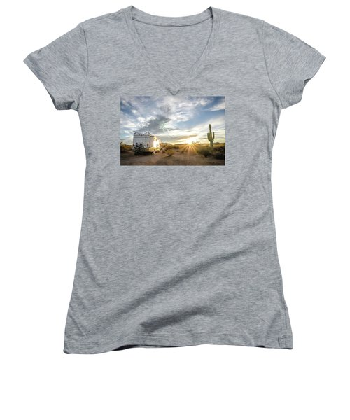 Home In The Desert Women's V-Neck