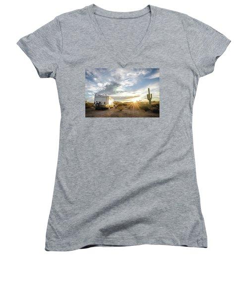 Home In The Desert Women's V-Neck T-Shirt