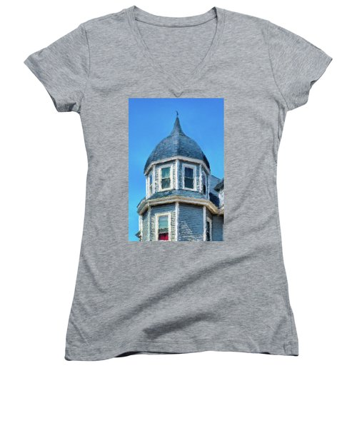 Home In Winthrop By The Sea Women's V-Neck (Athletic Fit)