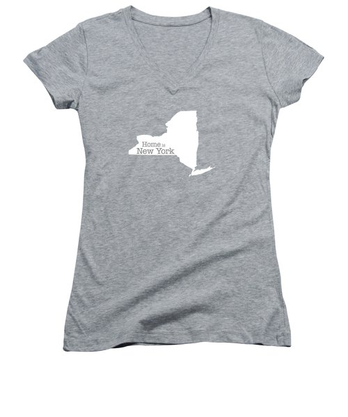 Home Is New York Women's V-Neck T-Shirt (Junior Cut) by Bruce Stanfield