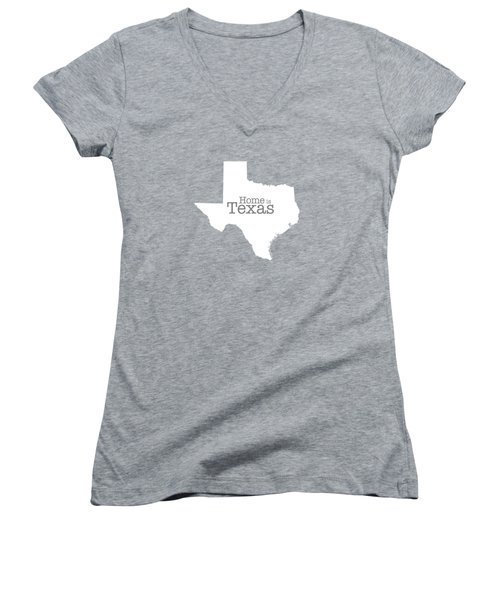 Home Is Texas Women's V-Neck T-Shirt (Junior Cut) by Bruce Stanfield