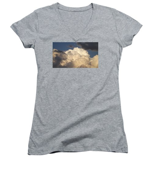 Home Of The Gods Women's V-Neck T-Shirt (Junior Cut) by Don Koester