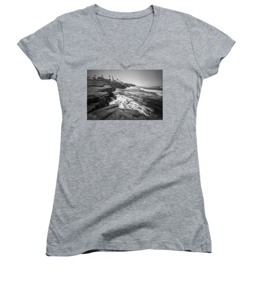 Women's V-Neck T-Shirt (Junior Cut) featuring the photograph Home by Ryan Weddle