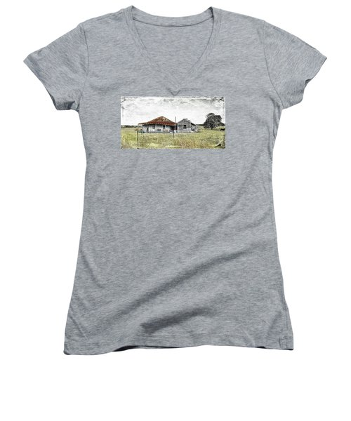 Home Sweet Home 001 Women's V-Neck T-Shirt (Junior Cut) by Kevin Chippindall
