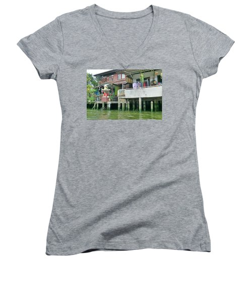 Homes On The Water Women's V-Neck