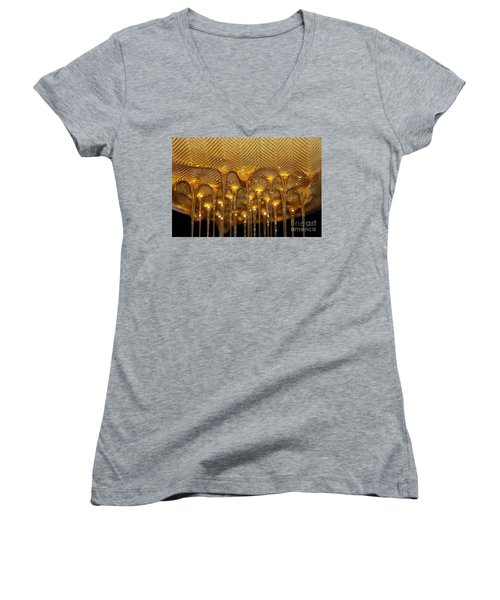 Women's V-Neck T-Shirt featuring the photograph Honey Drip by Stephen Mitchell