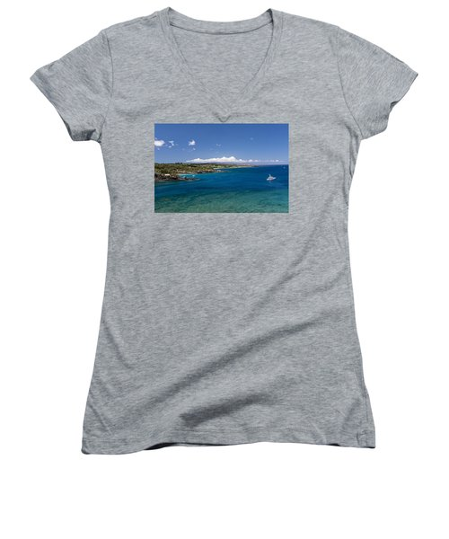 Women's V-Neck featuring the photograph Honolua Bay by Jim Thompson