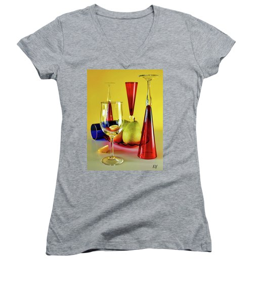 Honor To  Mondrian  Women's V-Neck (Athletic Fit)