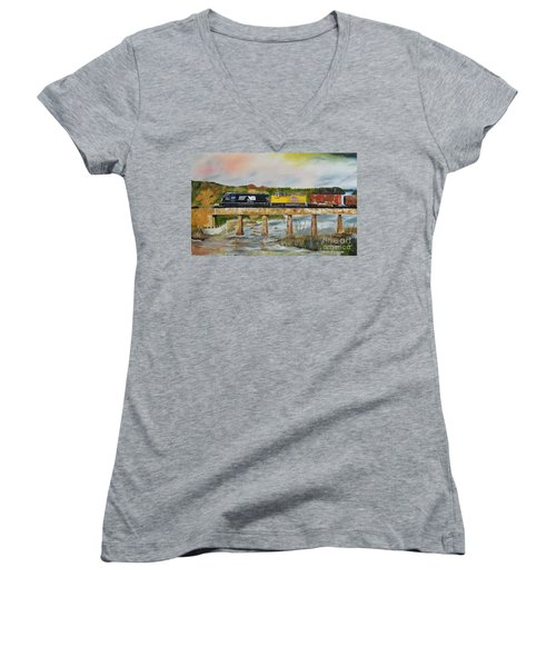Hooch - Chattahoochee River - Columbus Ga Women's V-Neck