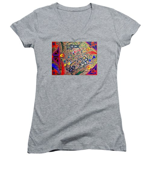 Hookah Monkeys - Jinga Monkeys Series Women's V-Neck (Athletic Fit)