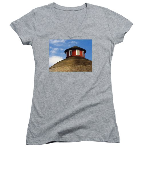 Hoosier Cupola Women's V-Neck (Athletic Fit)