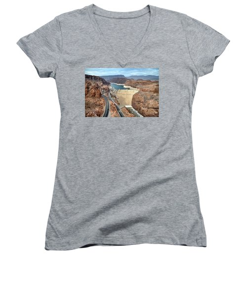 Hoover Dam Women's V-Neck (Athletic Fit)