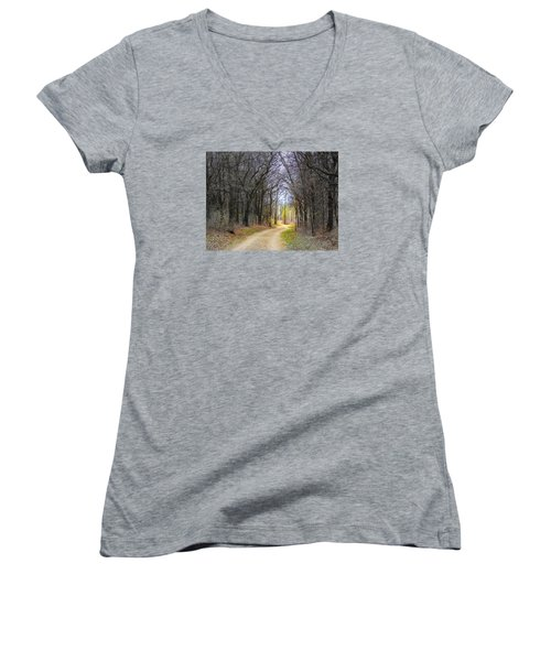 Hope In A Dark Forest Women's V-Neck (Athletic Fit)
