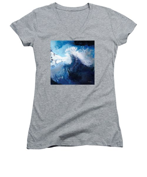 Hope In The Lord. Psalm 31 24 Women's V-Neck T-Shirt (Junior Cut) by Mark Lawrence